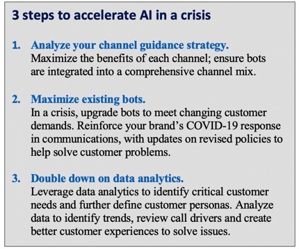 Three key steps to accelerate Artificial Intelligence in a crisis