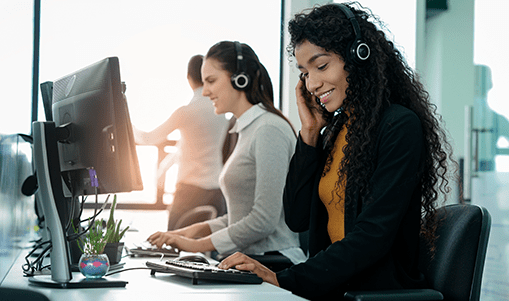 image of call center agents