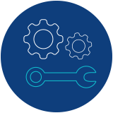 Icon of two gears and a wrench