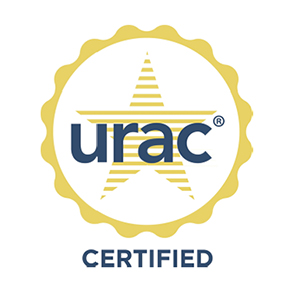 Logo of URAC Health Utilization Management – Certified (HGS)