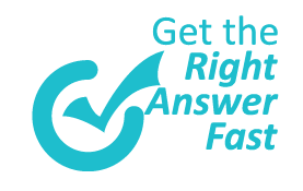 Get the Right Answer Fast emblem