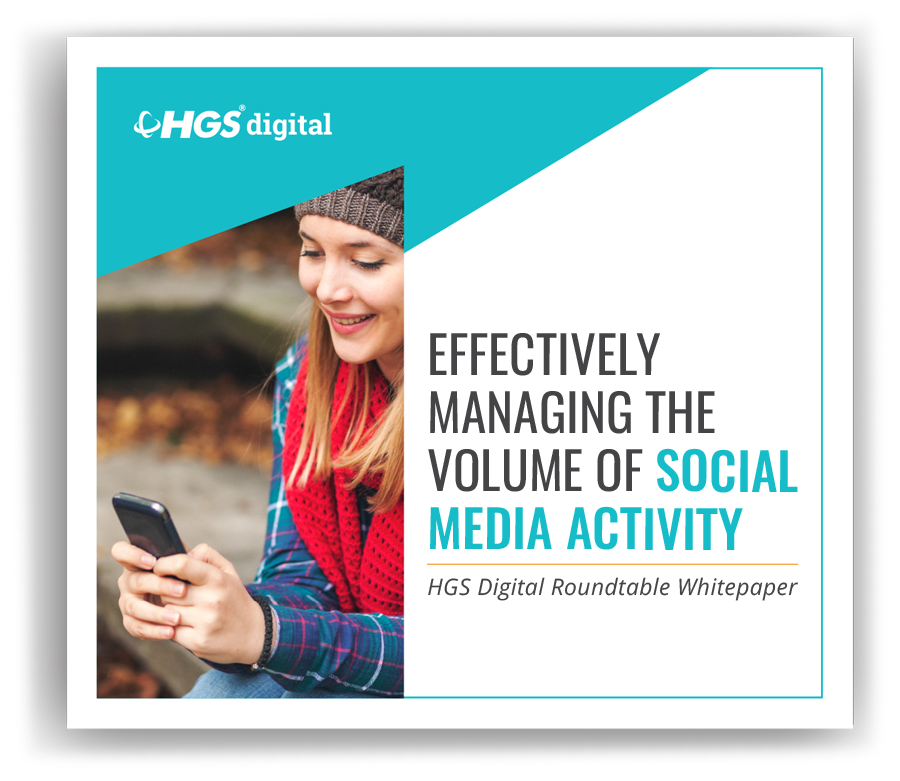 Effectively managing the volume of social media activities whitepaper cover